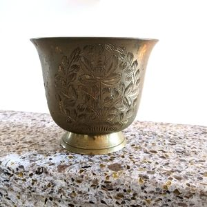 Etched Brass Pot
